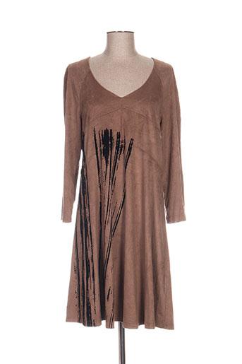 lauren vidal robes femme de couleur marron