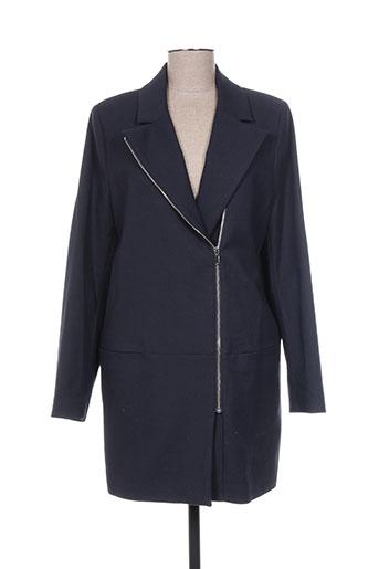 ikks manteaux femme de couleur bleu