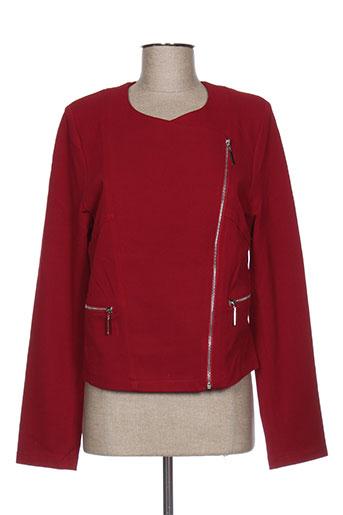 miss tic vestes femme de couleur rouge