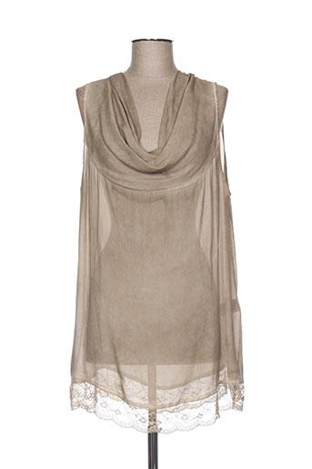 lauren vidal chemises femme de couleur beige