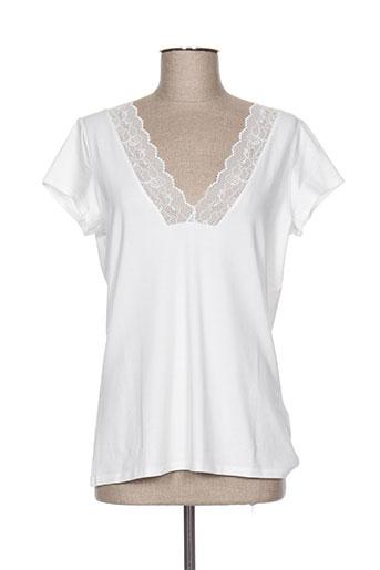 lauren vidal t-shirts femme de couleur blanc