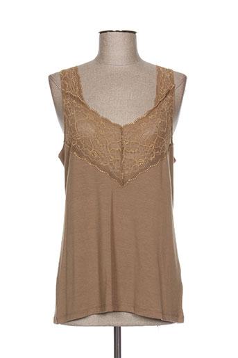 lauren vidal chemises femme de couleur marron