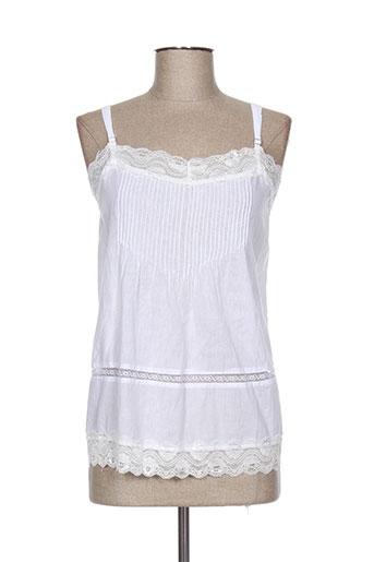lauren vidal chemises femme de couleur blanc