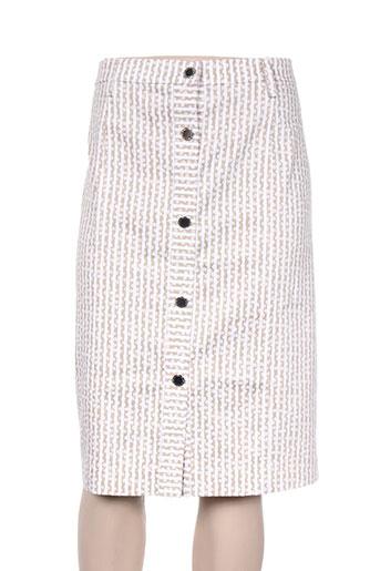 chema blanco jupes femme de couleur beige