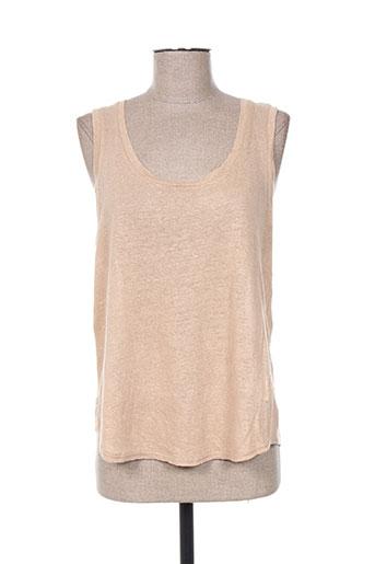 armani t-shirts femme de couleur beige