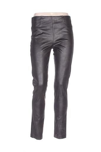 lauren vidal pantalons femme de couleur noir