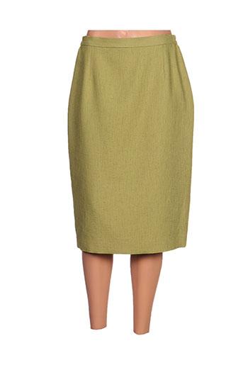 claude de saivre jupes femme de couleur vert