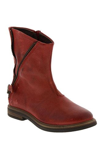 stones and bones chaussures fille de couleur rouge