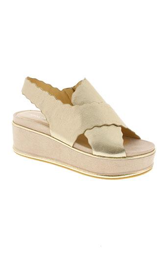 adele dezotti chaussures femme de couleur beige