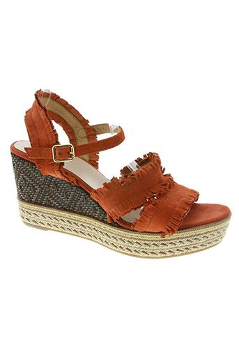 kanna chaussures femme de couleur orange