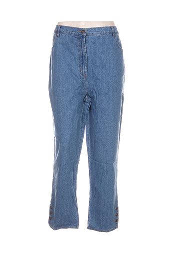 blancheporte jeans femme de couleur bleu