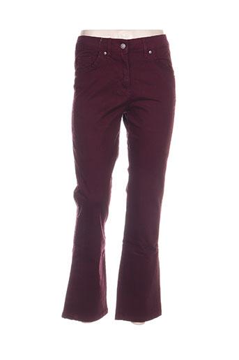 blancheporte jeans femme de couleur violet