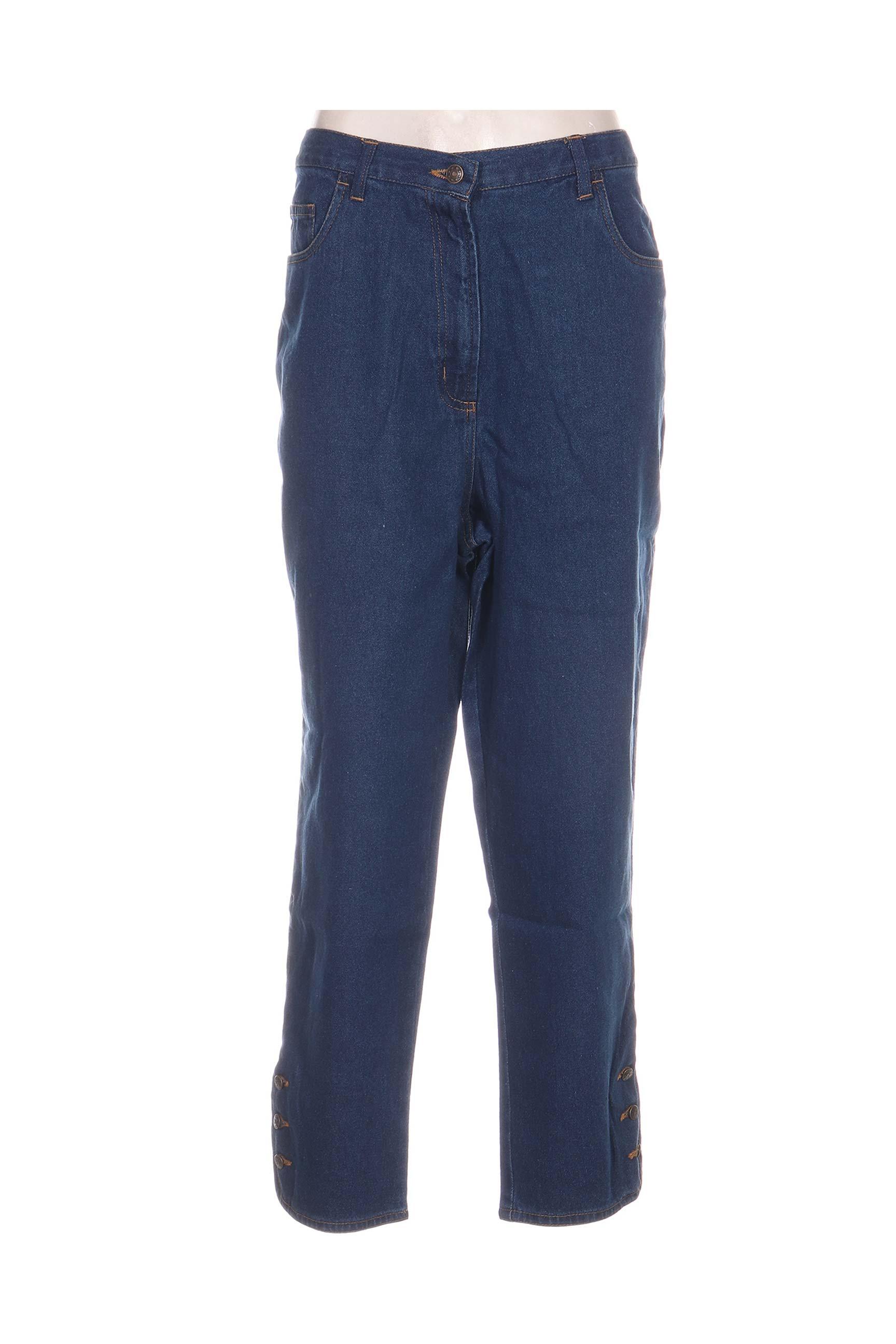 Blancheporte Jeans Coupe Droite Femme De Couleur Bleu En Soldes Pas Cher 1145365-bleu00 - Modz