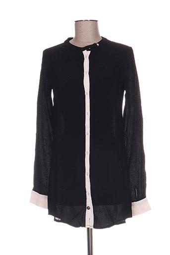 redsoul chemises femme de couleur noir