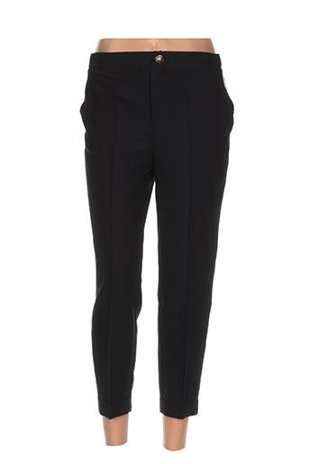 eureka pantalons femme de couleur noir