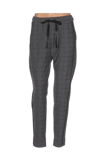 maryley pantalons femme de couleur gris