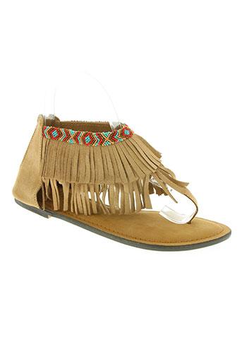 Sandales/Nu pieds marron FAVELA MARKET pour femme