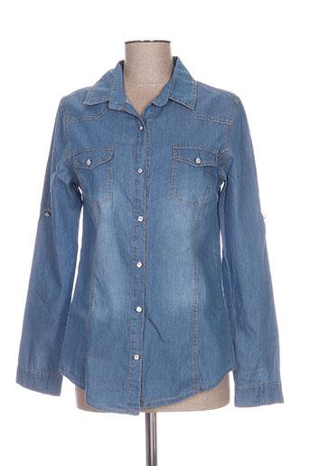 miss fanny chemises femme de couleur bleu