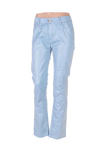 my christy pantalons femme de couleur bleu