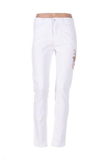 i dodo jeans femme de couleur blanc