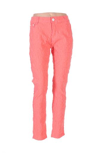 my christy pantalons femme de couleur rouge