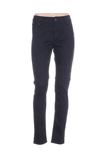 bs jeans pantalons femme de couleur bleu