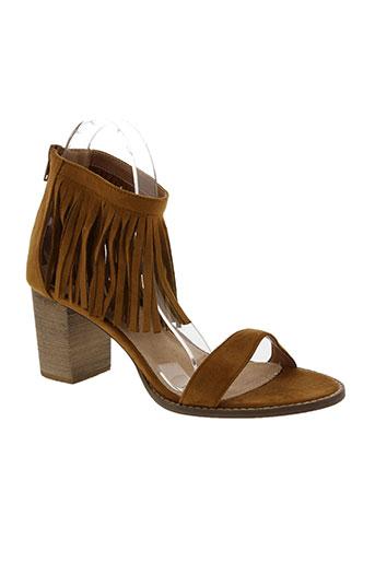 vanessa wu chaussures femme de couleur marron