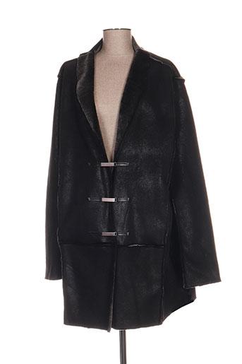 claude de saivre manteaux femme de couleur noir