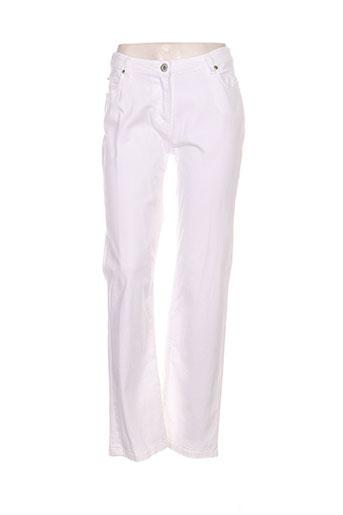 diplodocus jeans femme de couleur blanc