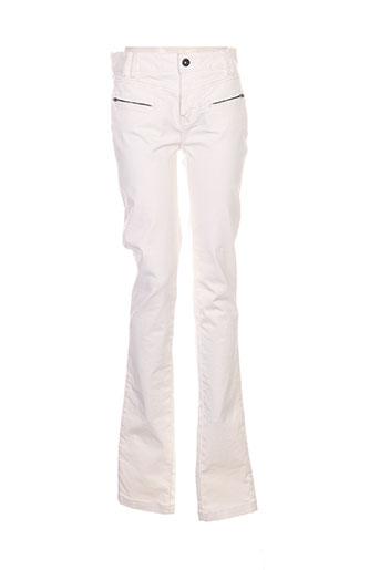 Pantalon casual blanc ONE STEP pour femme