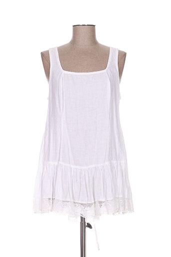 aurea vita chemises femme de couleur blanc
