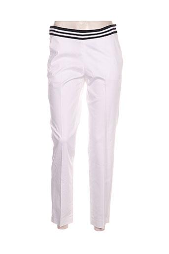 gardeur pantalons femme de couleur blanc