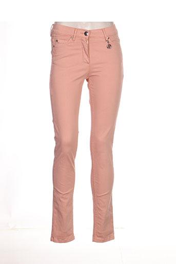 caroline biss jeans femme de couleur rose