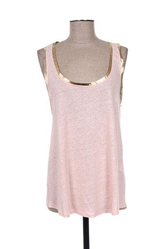 carla kops t-shirts femme de couleur rose