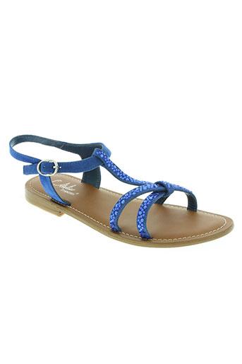 l'atelier tropézien chaussures femme de couleur bleu