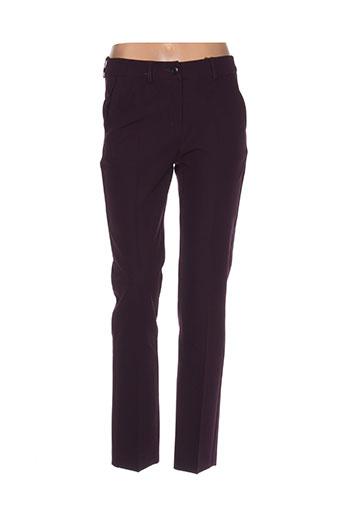 anna montana pantalons femme de couleur violet