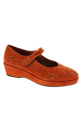 sanche de la rosa chaussures femme de couleur orange