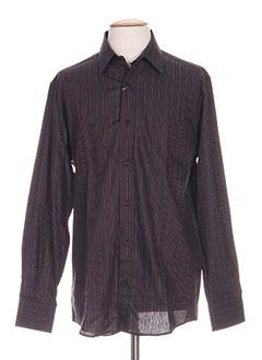 Chemise manches longues noir BELLINI pour homme