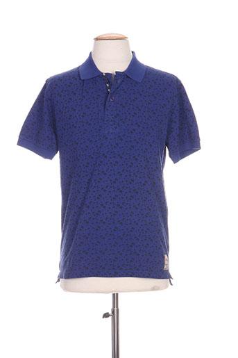 seaport t-shirts homme de couleur bleu