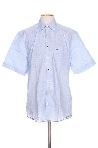 jupiter chemises homme de couleur bleu