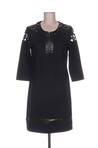 Robe mi-longue noir FELINO pour femme