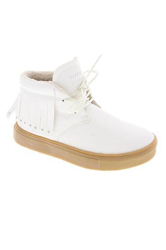 tiffosi chaussures fille de couleur blanc