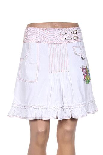 les fees du vent jupes femme de couleur blanc