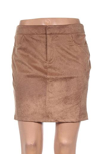 yaya jupes femme de couleur marron