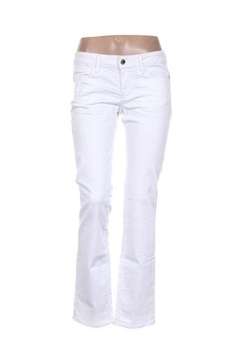 guess jeans femme de couleur blanc