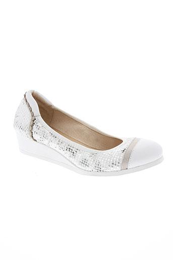 fugitive chaussures femme de couleur blanc