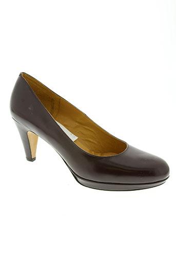 massimo baldi chaussures femme de couleur rouge