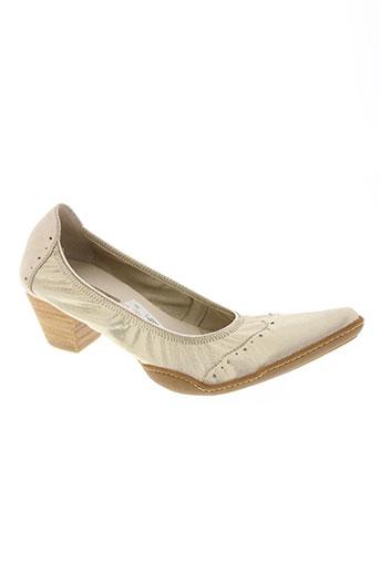 fugitive chaussures femme de couleur jaune