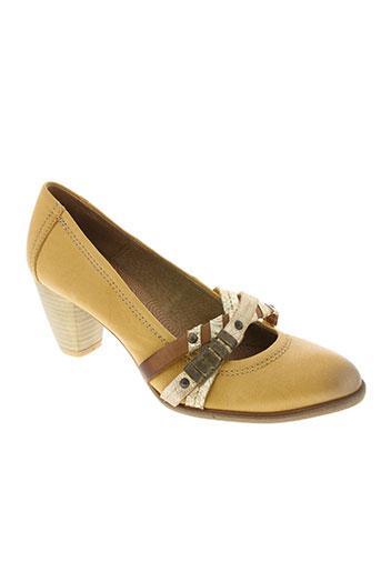spiral chaussures femme de couleur marron