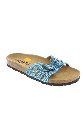 plakton chaussures femme de couleur bleu
